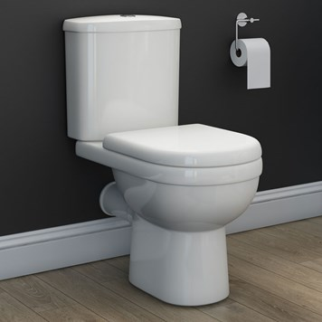 Dove Modern Close-Coupled Toilet with Soft-Close Seat