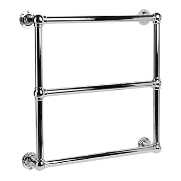 DQ Heating Hockwold Wall Mounted Traditional Heated Towel Rail - 685 x 475mm - Polished Nickel