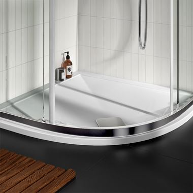 Drench 25mm Wafer Thin Luxury Stone Quadrant Shower Tray