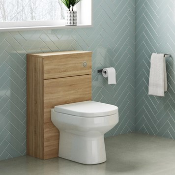 Drench Emily 500mm WC Unit - Natural Oak