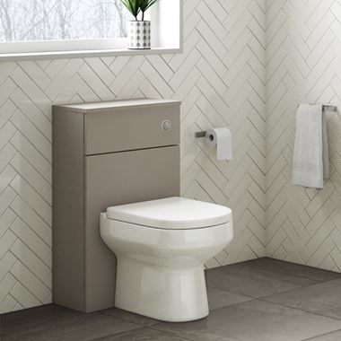 Drench Emily 500mm WC Unit - Matt Stone Grey