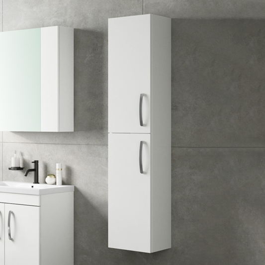 Drench Emily 2 Door Tall Wall Hung, Wall Hanging Bathroom Cabinets