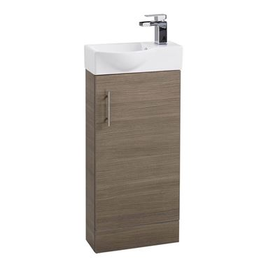 Drench Maisie 400mm Cloakroom Vanity Unit and Basin - Medium Oak
