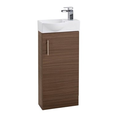 Drench Maisie 400mm Cloakroom Vanity Unit and Basin - Walnut