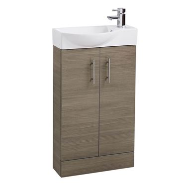 Drench Maisie 500mm Cloakroom Vanity Unit and Basin - Medium Oak