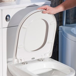 Vellamo D-Shaped Soft-Close Toilet Seat with Quick Release Hinges