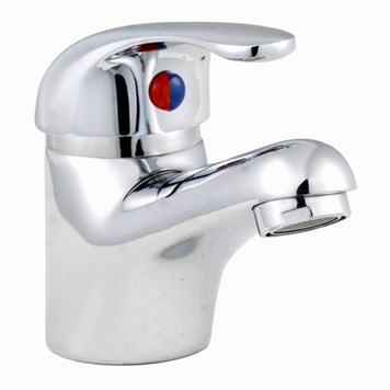 Premier D-Type Mono Basin Mixer With Push Button Waste