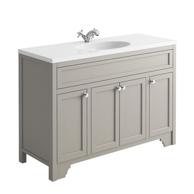 Butler & Rose Beatrice 1200mm Floorstanding Single Basin Vanity Unit - Dovetail Grey