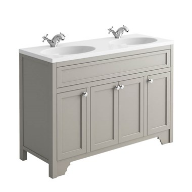Butler & Rose Beatrice 1200mm Floorstanding Double Basin Vanity Unit - Dovetail Grey
