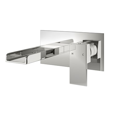 Vellamo Reve Wall Mounted Waterfall Bath Mixer