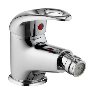 Vellamo Loop Bidet Mixer with Clicker Waste