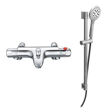 Drench Dylan Exposed Thermostatic Bath Shower Mixer & Slide Rail Kit