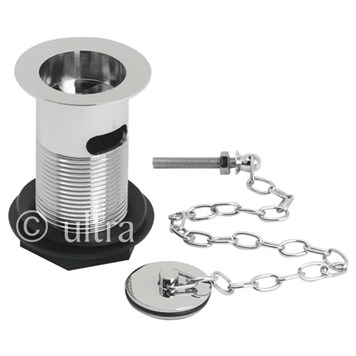 Ultra Basin Waste With Brass Plug & Link Chain
