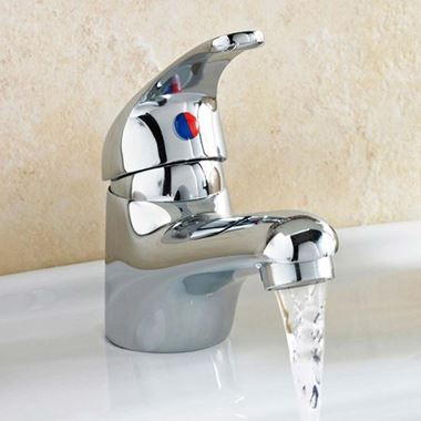 Vellamo Echo Deluxe Basin Mixer with Clicker Waste