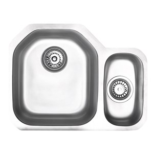 Astracast Echo D1 Undermount 1.5 Bowl Polished Stainless Steel Sink with Right Hand Small Bowl - 586 x 450mm