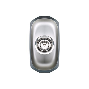 Astracast Echo Undermount 0.5 Bowl Polished Stainless Steel Kitchen Sink & Waste - 163 x 302mm