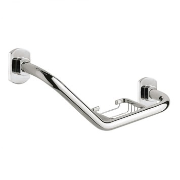 Gedy Edera Angled Grab Bar with Basket