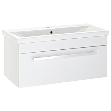 Premier Eden 800mm White Gloss Wall Mounted Vanity Unit & Basin