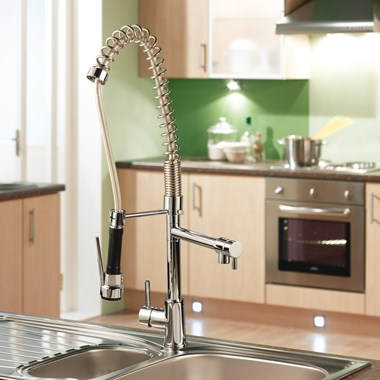 Sagittarius Ergo Lever Professional Kitchen Sink Mixer with Pull Out Head