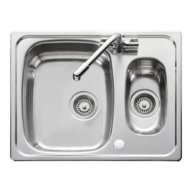Euroline 1.5 Bowl Stainless Steel Sink - Reversible