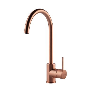 Clearwater Elara Single Lever Mono Kitchen Mixer - Brushed Copper