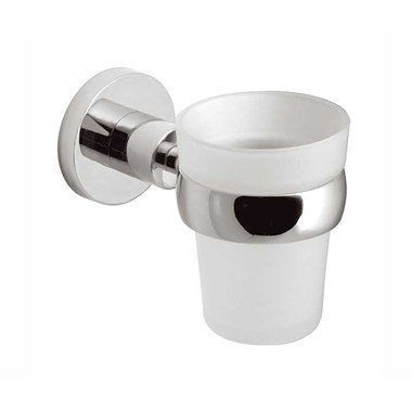 Vado Elements Wall Mounted Frosted Glass Tumbler & Holder