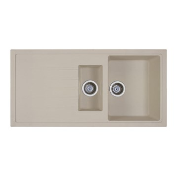 Vellamo Horizon 1.5 Bowl Beige Kitchen Sink & Waste