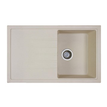 Vellamo Horizon Compact Single Bowl Beige Kitchen Sink & Waste