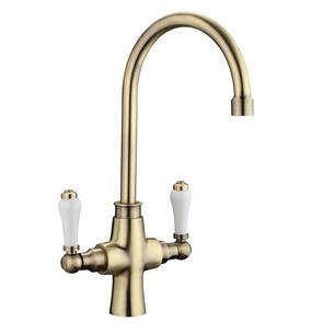 Butler & Rose Traditional Mono Kitchen Mixer - Antique Brass