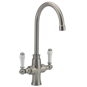 Butler & Rose Traditional Mono Kitchen Mixer - Brushed Nickel