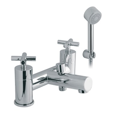Vado Elements Water 2 Hole Bath Shower Mixer with Shower Kit