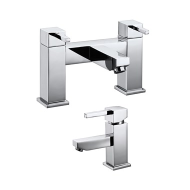 Vellamo Blox Basin Mixer & Bath Filler Pack