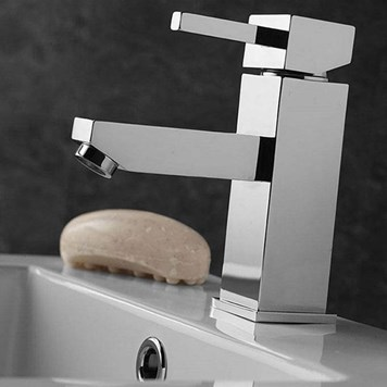 Vellamo Four Basin Mixer with Clicker Waste