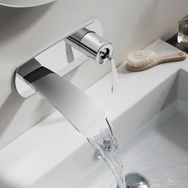 Crosswater Essence Wall Mounted Basin 2 Hole Set