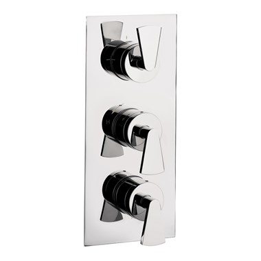 Crosswater Essence Concealed Thermostatic Shower Valve with 3 Way Diverter