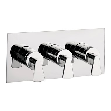 Crosswater Essence Concealed Thermostatic Shower Valve with 3 Way Diverter (Landscape)