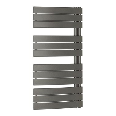 Bauhaus Essence Curved Flat Panel 550 x 1080 Towel Rail in Anthracite