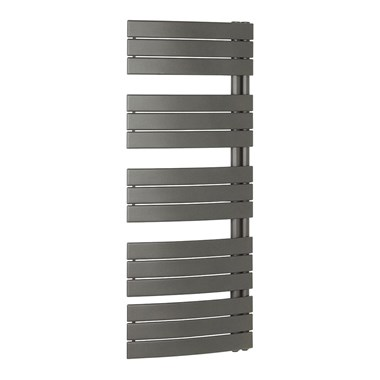 Bauhaus Essence Curved Flat Panel 550 x 1380 Towel Rail in Anthracite