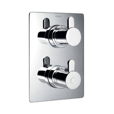 Flova Essence 1 Outlet Concealed Thermostatic Shower Mixer with Shut Off Valve