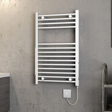 Brenton Apollo Electric Straight Heated Towel Rail - 800 x 500mm - On/Off Element