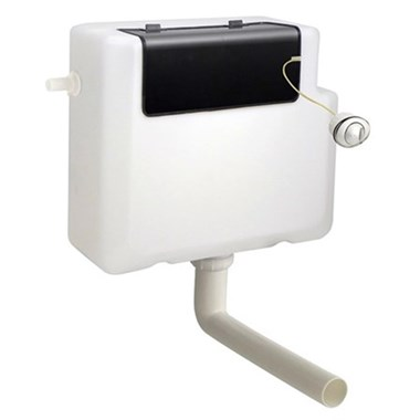 Vellamo Universal Concealed Dual Flush Cistern & Large Push Button Plate