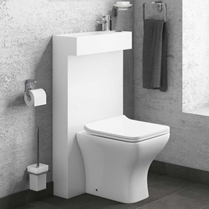 Vellamo Compact Combined All In One Toilet & Basin Set