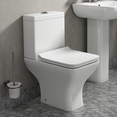 Harbour Alchemy Short Projection Close Coupled Toilet & Wafer Thin Soft Close Seat