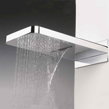 Crosswater Revive Fixed Shower Head with Waterfall & Rainfall Functions