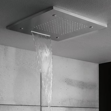 Crosswater Square Multifunction Recessed 500mm Showerhead