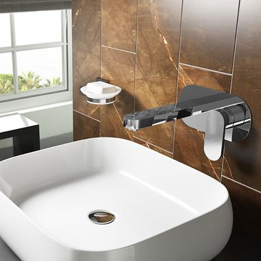 Vellamo Desire Wall Mounted Basin Mixer Tap