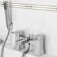 Vellamo Flare Bath Shower Mixer with Shower Kit