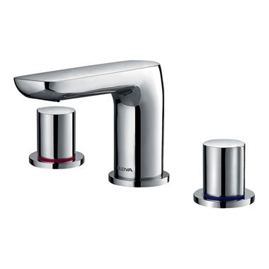 Flova Allore 3 Hole Basin Mixer & Clicker Waste Set