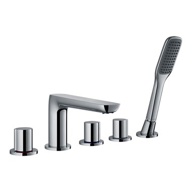 Flova Allore 5 Hole Bath Shower Mixer & Shower Set