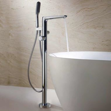 Flova Allore Thermostatic Floorstanding Bath Shower Mixer with Handset Kit